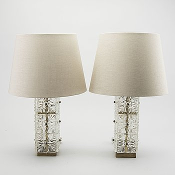 A PAIR OF TABLE LAMPS  FROM ELPE-ARMATUR, SECOND HALF OF 20TH CENTURY.