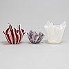 Fulvio bianconi & paolo venini, bland annat, skålar, 3 st, glas, venini, murano