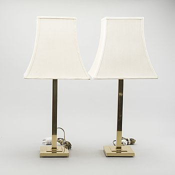 A PAIR OF TABLE LAMPS FROM EWÅ, SECOND HALF OF 20TH  CENTURY.