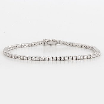 TENNISARMBAND, med briljantslipade diamanter ca 2,56 ct.
