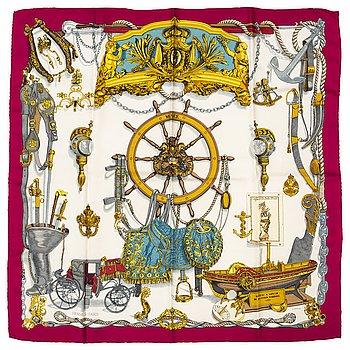 HERMÈS, a 'Musée' silk scarf.