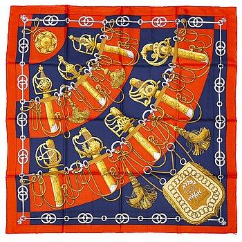 HERMÈS, a 'Cliquwetis' silk scarf.