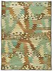 "Matta. ""tånga, w lätt brun och grön"". gobelängteknik. 226 x 165,5 cm. signerad ab mmf bn (ab märta måås-fjetterström, barbro nilsson)."