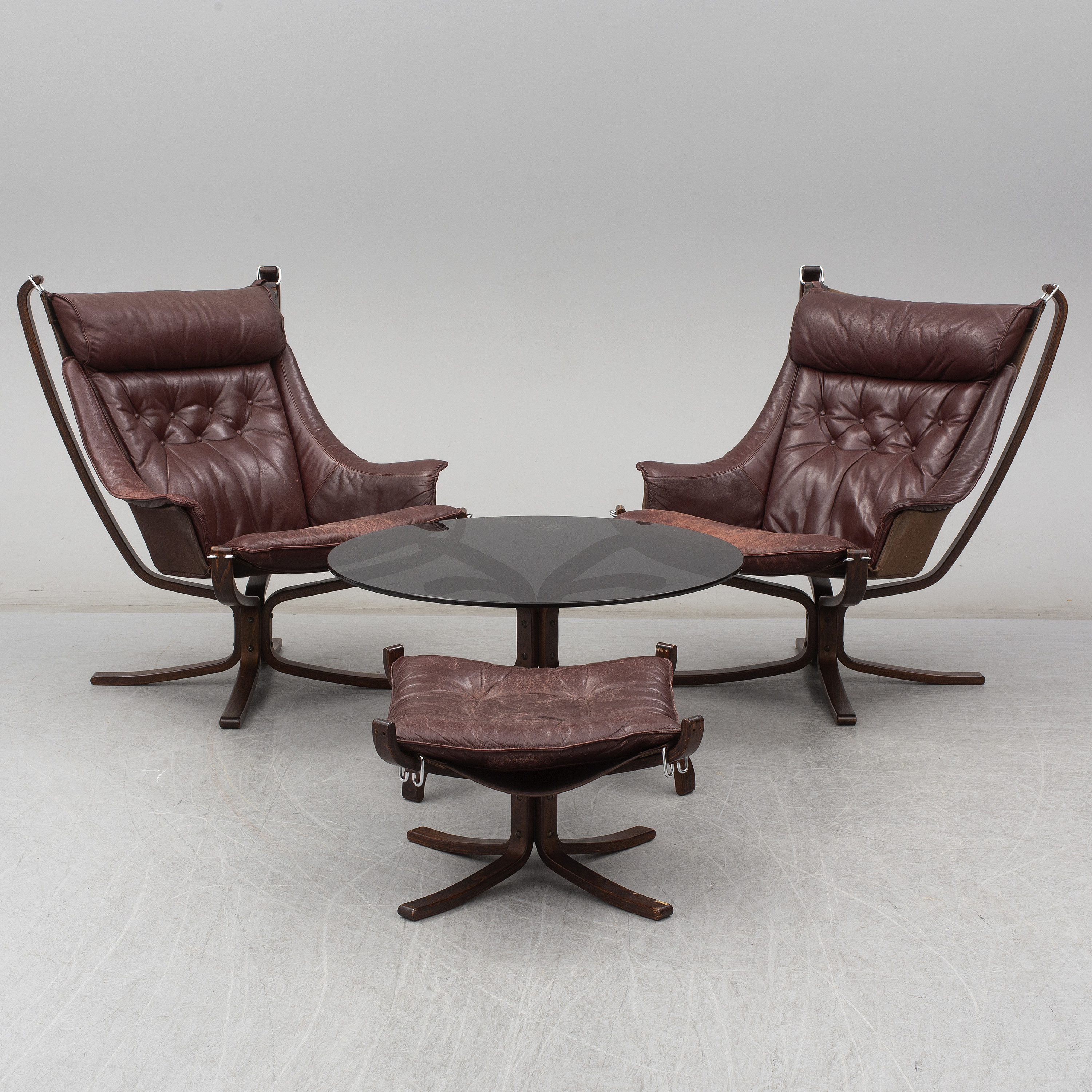 Easy Coffee Table.A Pair Of 1970s Falcon Easy Chairs And Foot Stool And Coffee Table