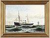 Anund emanuel, olja på duk, signerad och daterad  86