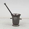 A swedish 19th century cast iron mortar
