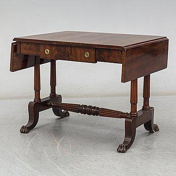 KLAFFBORD, Empire, stockholmsarbete, otydligt signerat och daterat 1833.