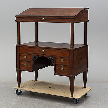 A late gustavian writing desk, late 18th century.