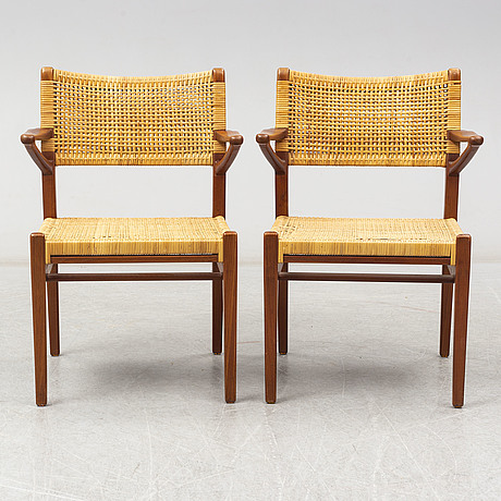A pair of armchairs, probably denmark