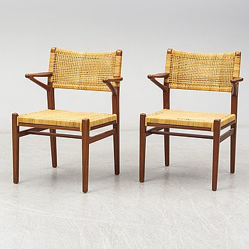 A pair of armchairs, probably Denmark.