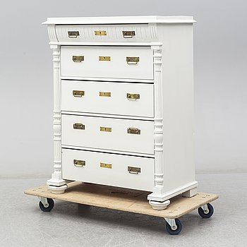 A circa 1900 painted chest of drawers.