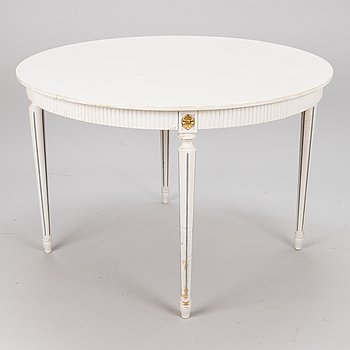 A dining table, Gustavian style, second half of the 20th century.
