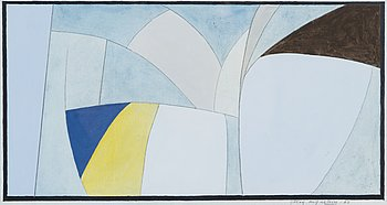 GÖRAN AUGUSTSON, gouache, mixed media, signed and dated -80.