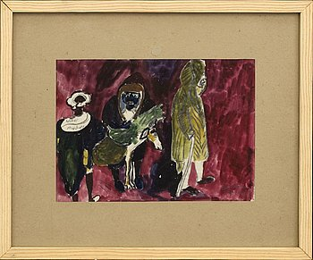 SVEN X:ET ERIXSON, watercolor, signed and dated 1935.