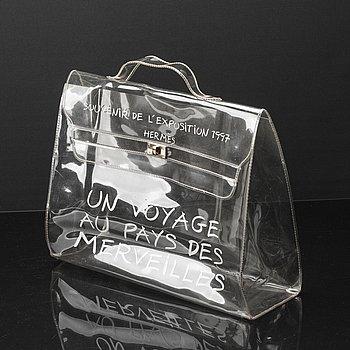 "HERMÈS ""Plastic Kelly"" bag 1997."