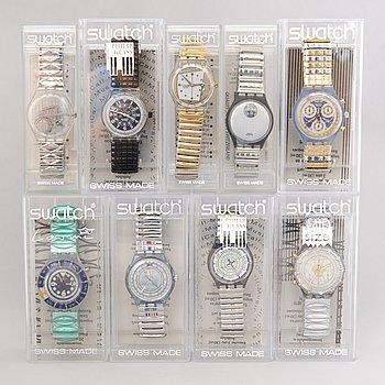 SWATCH, wristwatches, 9 pcs.