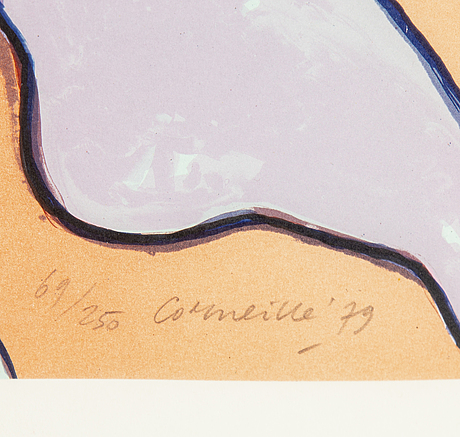 Beverloo corneille, lithograph in colours, signed 69/250. dated -79.