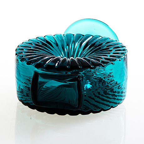 """Helena tynell,  pullo, """"aurinkopullo"""". riihimäen lasi oy. tuotannossa 1964-1974."""