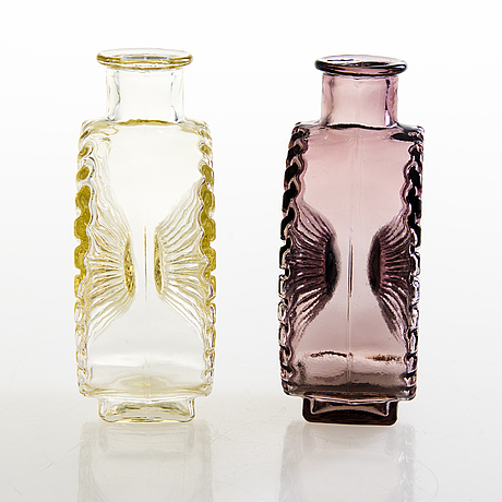 Helena tynell, two 'sun bottle' for riihimäen lasi oy. in production 1964-1974.