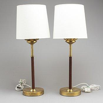 BERTIL BRISBORG, bordslampor, ett par, Nordiska Kompaniet, 1900-talets mitt.