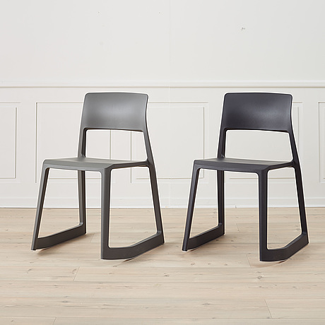 A set of four 'tip ton' chairs by edward barber and jay osgerby, vitra.