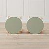 A pair of 'e60' stools by alvar aalto, artek.
