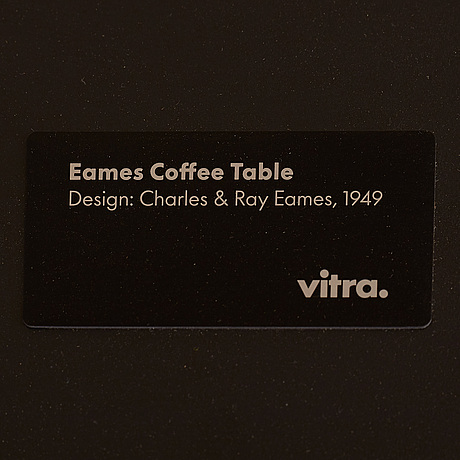 An 'eames coffee table, by charles & ray eames, vitra, designed in 1949.