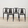Four 'belleville' chairs by ronan & erwan bouroullec, vitra.