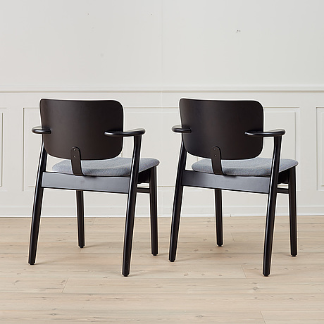 A pair of 'domus' armchairs by ilmari tapiovaara for artek.
