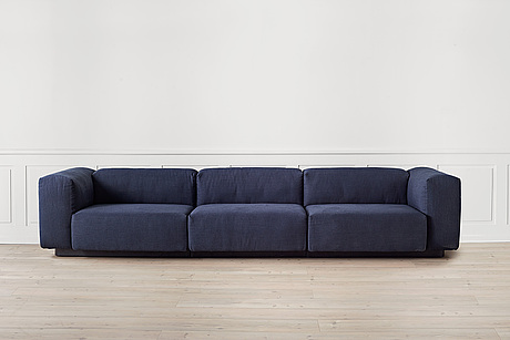An 'soft modular sofa' three seater by jasper morrison for vitra.