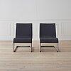 "A pair of "".06"" easy chairs by maarten van severen for vitra."