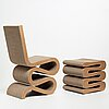"Frank gehry, ""wiggle side chair & stool"", vitra, 21st century."