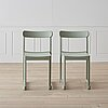 "A set of four light green ""atelier"" chairs by studio taf for artek."