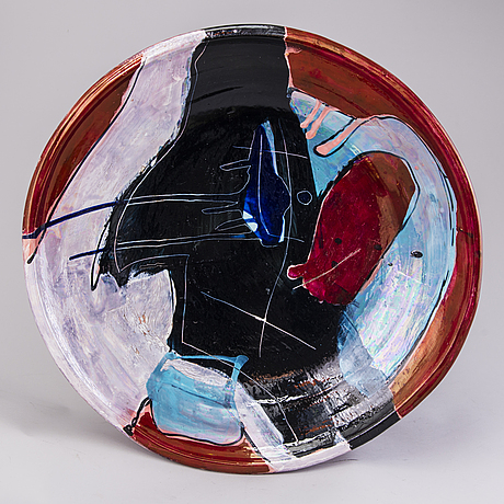 Timothy persons, a decorative dish signed persons -82 arabia.