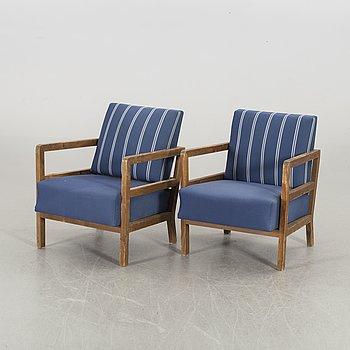 "Axel Einar Hjorth, ""Sport"", armchairs, 1 par, NK 1930/40's."