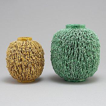 Two stoneware vases by Gunnar Nylund, Rörstrand.