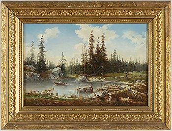 WILHELM ALEXANDER ROTHSTÉN, olja på duk, signerad och daterad 1888.