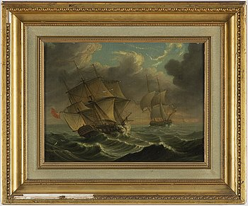 UNKNOWN ARTIST, 19th century, oil on canvas/panel, signed.