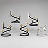 Four plus one 'sonat' candle holders by gunnar ander, ystad metall