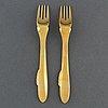 """Gunnar cyrÉn, 24 pieces of fish cutlery, """"nobel"""", gense"""