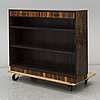 A 1930's stained birch bookshelf