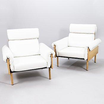 YRJÖ KUKKAPURO, a pair of late 20th century 'Ateljee' armchairs for Haimi/Avarte.