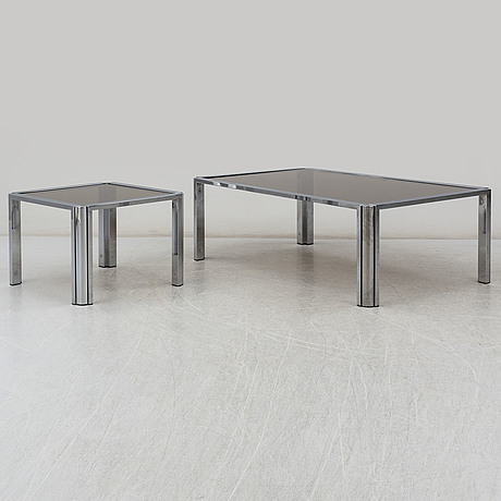 A coffee table and a side table from the late 20th century