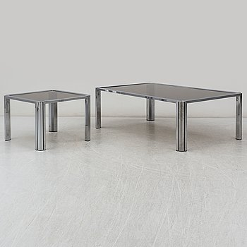 a coffee table and a side table from the late 20th century.
