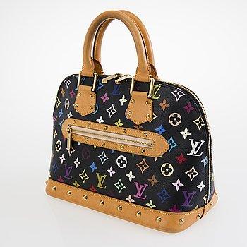 LOUIS VUITTON Black Multicolor Alma Handbag.