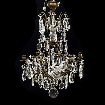A Rococo-style chandelier first half of the 20th century.