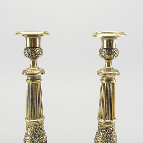 A pair of empire candlesticks, france early 19th century