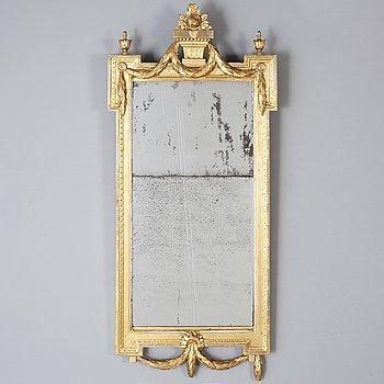 MIRROR, Gustavian, Sweden late 18th century.