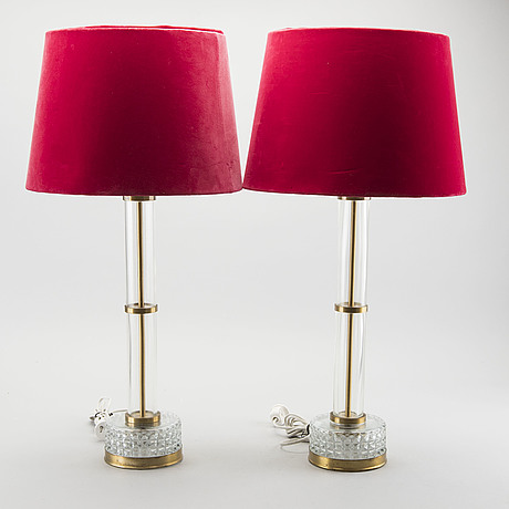A pair of table lamp anf 1970's