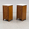 A pair of bedside tables, early 20th century